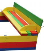 Children's set - 1 sandbox with a lid and a table with benches