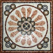 Mosaic carpets made of natural stone