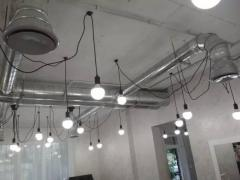Ventilation installation. The energy recovery with ducted air conditioners, and other